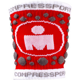 Compressport 3D Dots - Calentadores - Ironman Edition rojo